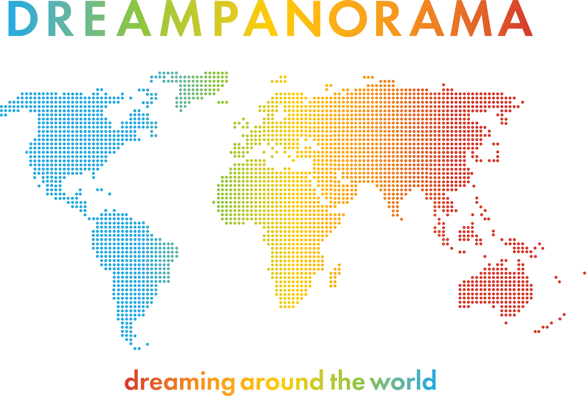 Logo d r e a m p a n o r a m a everyones favourite colourful world map gumiabroncs Gallery